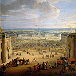 Jean-Baptiste Martin the elder -- View of the stables of the chateau, Château de Versailles