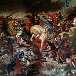 The Battle of Taillebourg between Louis IX, King of France, and Henry III, King of England; July 21, 1242, Ferdinand Victor Eugène Delacroix