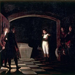 Marie Nicolas Ponce-Camus -- Napoleon at the Tomb of Frederick the Great at Potsdam, 25 October 1806, Château de Versailles