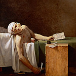 David, Jacques Louis -- Assassination of Jean-Paul Marat in his bath, Château de Versailles