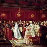 Félix Henri Emmanuel Philippoteaux -- Marriage of the Duc de Nemours and the Princess of Sax-Coburg-Gotha, in the chapel of the castle at Saint-Cloud, 27 April 1840., Château de Versailles