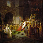François Dubois -- Annointing of Pepin the Short at Saint-Denis, 28 July 754, Château de Versailles