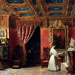 Château de Versailles - Prosper Lafaye; formerly attributed to Eugène Louis Lami -- Posthumous Portrait of Princess Marie d'Orléans, Duchess of Württemberg, in her Atelier, Palais des Tuileries