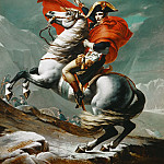 Jacques-Louis David -- Napoleon Crossing the Saint Bernhard Pass, Château de Versailles