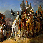 Château de Versailles - Jean Baptiste Debret -- Napoleon paying honor to unfortunate courage, October 1805