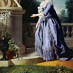 Adélaïde Labille-Guiard -- Marie-Thérèse-Louise-Victoire de France, called Madame Victoire, before a statue of Friendship at the Château de Bellevue, Château de Versailles