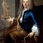 Château de Versailles - Louis Tocqué -- Portrait of Louis Boullogne the Younger (Portrait of a Painter of the Academie Royale de Peinture)