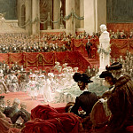Théobald Chartran -- Celebration of the 100th Birthday of Victor Hugo at the Panthéon in Presence of the President Félix Loubet, 26 February 1902, Château de Versailles