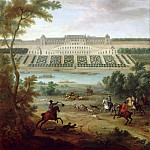Jean-Baptiste Martin the elder -- View of the Chateau-Neuf at Saint-Germain-en-Laye, near the terraces, Château de Versailles