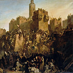 Claude Jacquand -- Jacques Molay, Grand Master of the Templars Takes Jerusalem by Surprise in 1299, Château de Versailles