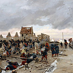 Bivouac in front of Le Bourget, after combat 21 December 1870, Alphonse Marie De Neuville