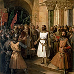 Federico de Madrazo y Kuntz -- Godefroy de Bouillon elevated King of Jerusalem, 23 July 1099, Château de Versailles