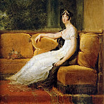 Empress Josephine, Seated on a Couch at Malmaison, Francois Pascal Simon Gerard
