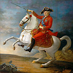 Jean-Baptiste-François Carteaux -- Louis XVI, King of France and Navarre; equestrian portrait of the king wearing the tricolor cockade, Château de Versailles