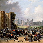 Edouard Pingret -- Arrival of King Louis-Philippe at Windsor Castle, 8 October 1844, Château de Versailles