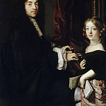 Claude Lefebvre -- Charles Couperin with the Artist's Daughter, Château de Versailles