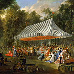 Michel Barthélemy Ollivier -- Celebration given by Prince de Conti as hereditary Prince of Brunswick-Lunebourg at L'Ile-Adam, 1766, Château de Versailles