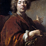 Nicolas de Largillière -- Self Portrait Working on an Annunciation, Château de Versailles