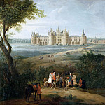 Château de Versailles - Pierre-Denis Martin -- View of the chateau at Chambord, from the park