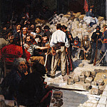 Château de Versailles - Andre Devambez -- The Barricade, Commune of Paris, May 1871