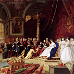 Château de Versailles - Jean-Léon Gérôme -- Reception of the Ambassadors of Siam by Napoleon III and Empress Eugénie at Fontainebleau Châteaux on June 27, 1861