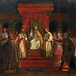 Official Recognition of the Order of the Templars by Pope Honorius II at the Council of Troyes in 1128, De Schryver Louis Marie