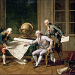 Château de Versailles - Nicolas André Monsiaux -- Louis XVI giving instructions to La Perouse, 29 June 1785