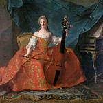 Jean-Marc Nattier -- Anne-Henriette of France, called Madame Henriette , Château de Versailles