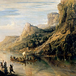 Théodore Gudin -- Jacques Cartier Discovering and Going up-stream the Saint Lawrence River in Canada in 1535, Château de Versailles