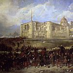 Château de Versailles - Jean-Adolphe Beaucé -- General Bazaine attacks Fort San Xavier during the Siege of Puebla, 29 March 1863 (Death of General Laumière)