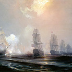 Château de Versailles - Théodore Gudin -- Episode from the Siege of Yorktown: Naval Combat before Chesapeake Bay between the English and French Fleets, on September 3, 1781