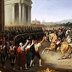 Hippolyte Lecomte -- Entry of the French Army in Rome. General Berthier at the head of the army, 15 February 1798, Château de Versailles