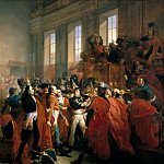 Château de Versailles - François Bouchot -- General Bonaparte at the Council of 500 in Saint-Cloud, November 10, 1799 (The Eighteenth Brumaire, Napoleon's coup d'etat at the council of 500)