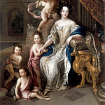Château de Versailles - Charles de la Fosse -- Marquise de Montespan surrounded by her first four Legitimate Children