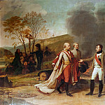 Antoine-Jean Gros -- Interview Between Franz II and Napoleon after the Battle of Austerlitz, December 4, 1805, Château de Versailles