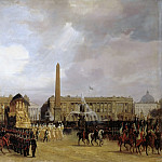 Jacques Guiaud -- Napoleon's Funeral Cortege Passing through the Place de la Concorde, 15 December 1840, Château de Versailles