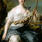Jeanne-Antoinette Poisson (), Marquise de Pompadour, represented as Diana the Huntress, Jean Marc Nattier
