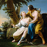 Noël Hallé -- Jupiter, in the guise of Diana, and Callisto, Château de Versailles