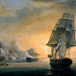 Château de Versailles - Pierre-Julien Gilbert -- Naval Combat between La Formidable, under Command of Amable Troude, and three English Vessels, Venerable, Caesar and Superb, and the Frigate Thames before Cádiz on July 13, 1801 (Battle of Algeciras)
