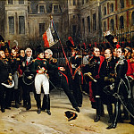 Antoine Alphonse Montfort -- Farewell of Napoleon's imperial guard April 20, 1814, Château de Versailles