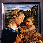 Uffizi - Filippo Lippi - Madonna and Child with two Angels