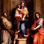 Uffizi - Andrea del Sarto - Madonna of the Harpies