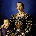 Uffizi - Bronzino - Portrait of Eleonora di Toledo with her son Giovanni