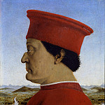 Alessandro Botticelli - Piero della Francesca - Portraits of the Duke and Duchess of Urbino, Federico da Montefeltro and Battista Sforza