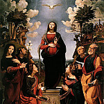 Alessandro Botticelli - Piero di cosimo - The Immaculate Conception with Saints (also knows as The Incarnation of Jesus)