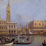 Titian (Tiziano Vecellio) - Canaletto - View of the Ducal Palace in Venice