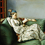Uffizi - Jean Etienne Lìotard - Portrait of Maria Adelaide of France in Turkish-style clothes
