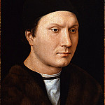 Uffizi - Hans Memling - Portrait of an Unknown Man with a Letter
