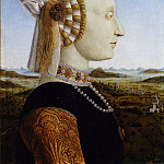 Uffizi - Piero della Francesca - Portraits of the Duke and Duchess of Urbino, Federico da Montefeltro and Battista Sforza