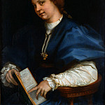 Andrea del Sarto - Lady with a book of Petrarchs rhyme